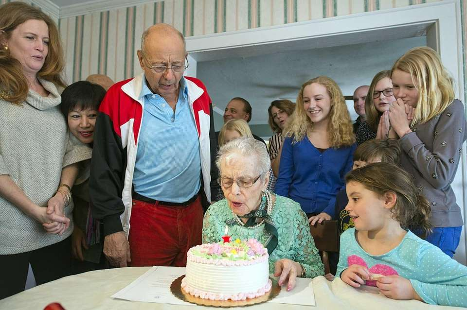 Antoinette D'Amato celebrates her 99th birthday Saturday, Feb.