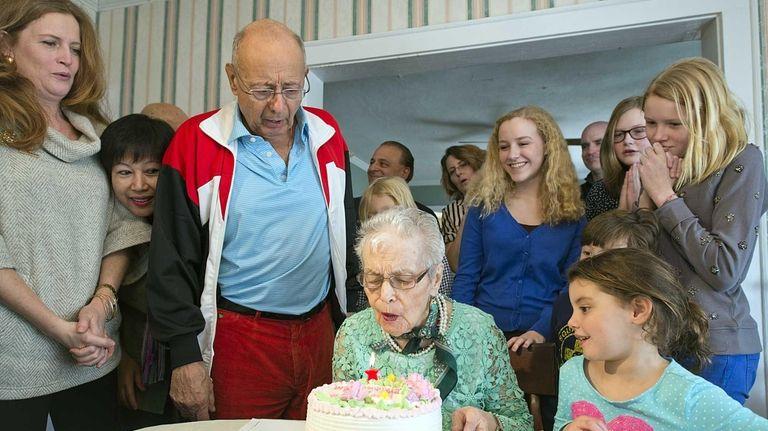 Antoinette D'Amato celebrates her 99th birthday Saturday, Feb.