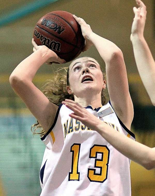 Massapequa's Meghan McCabe shoots for two in the