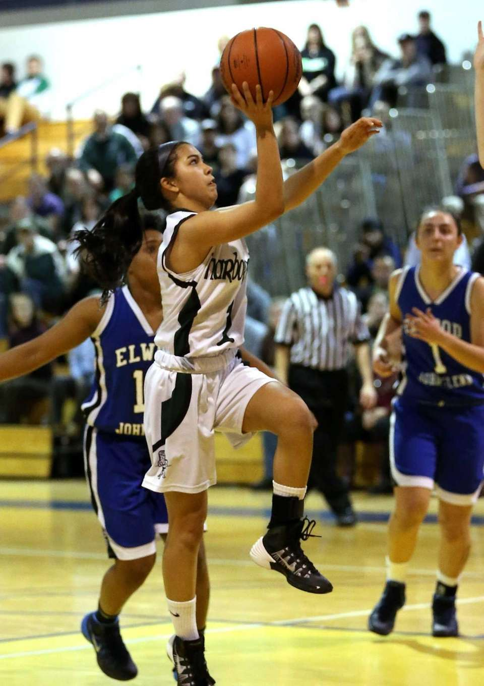 Harborfields' Christiana deBorja goes up for a layup