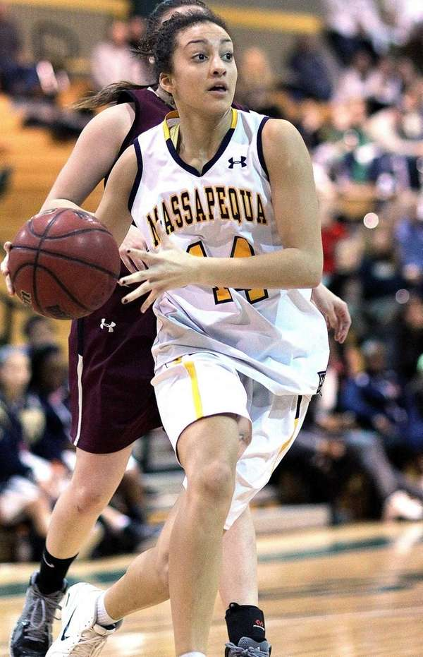Massapequa's Kole Pollock gets inside in the Nassau