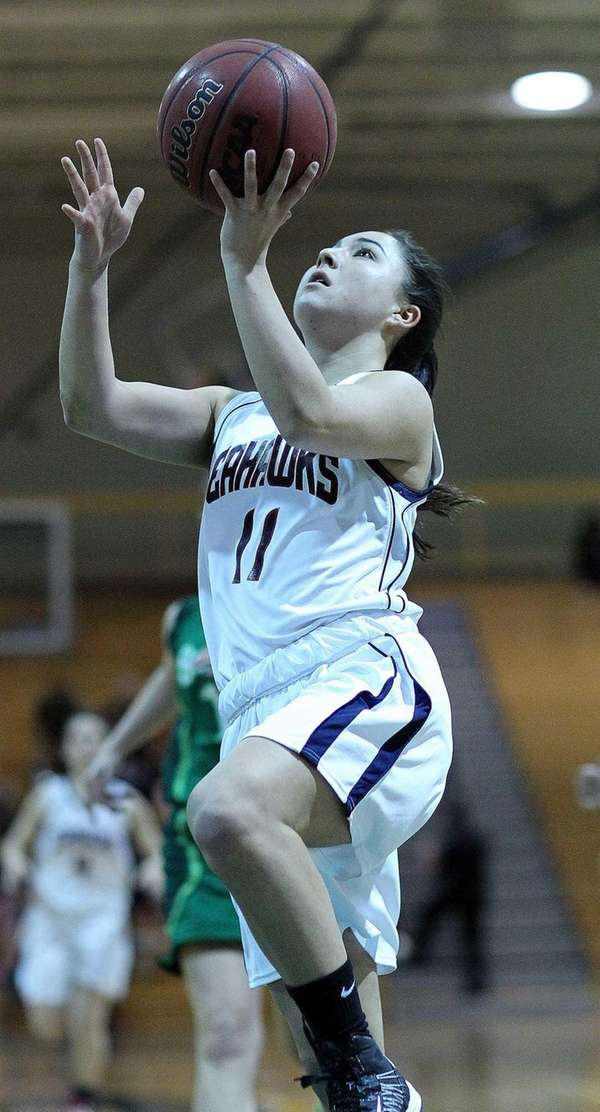Cold Spring Harbor's Holly Logan goes for a