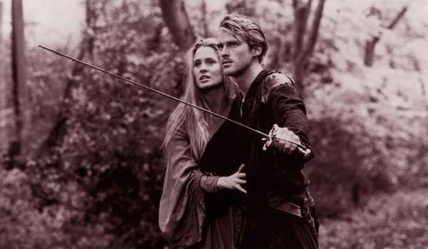 Actors Robin Wright and Cary Elwes in a