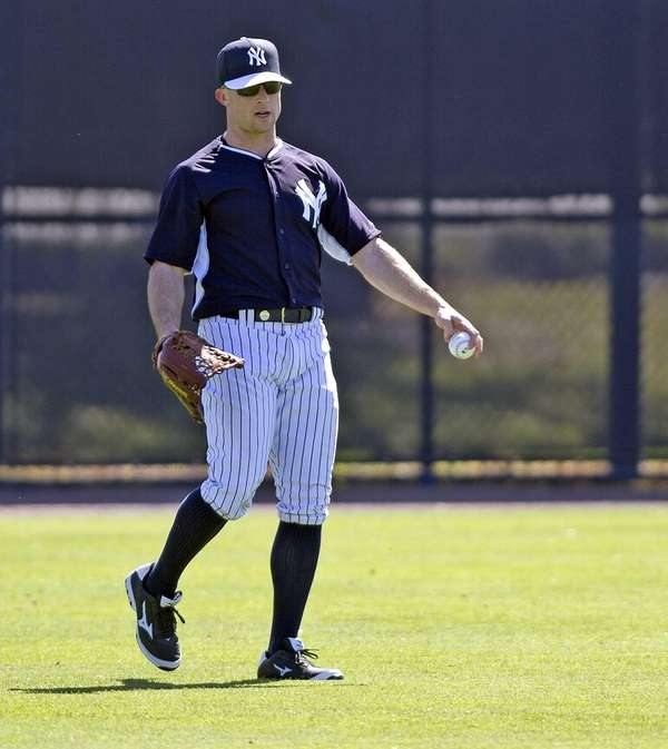 Brett Gardner works out at Steinbrenner Field in