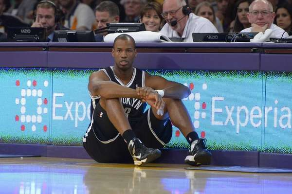 Jason Collins waits to come into the game