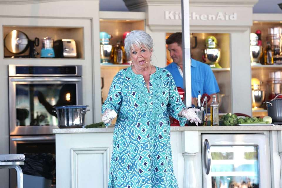 Paula Deen speaks at Whole Foods Market Grand