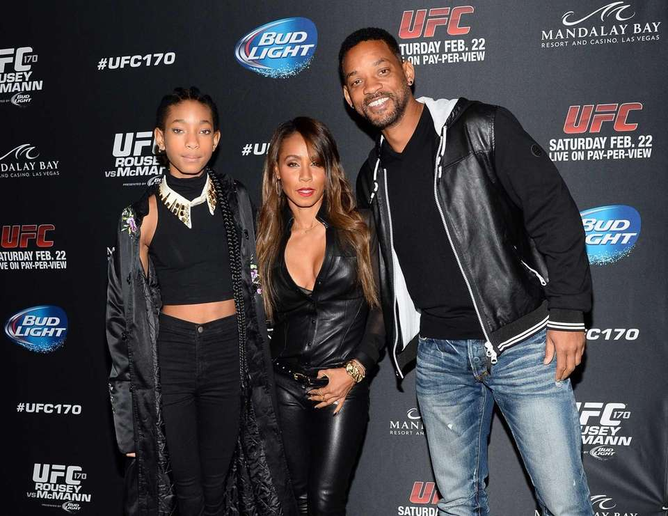 Willow Smith and her parents, Jada Pinkett Smith