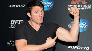 Chael Sonnen attends UFC 170 at the Mandalay