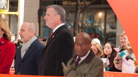 Mayor Bill de Blasio appears on the