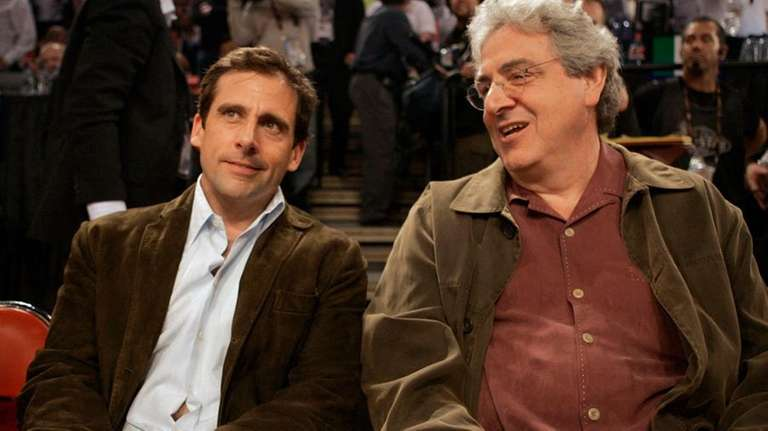 Steve Carell, left, and Harold Ramis before the
