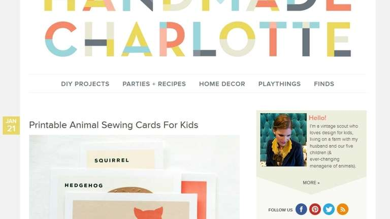 At HandmadeCharlotte.com, parents can find crafts projects to