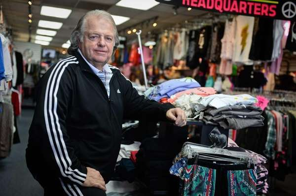 Abe Weisblack, who owns Sweats Appeal, in Plainview,