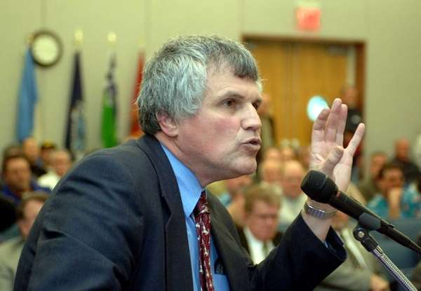 Former Chief Deputy County Executive Paul Sabatino speaks