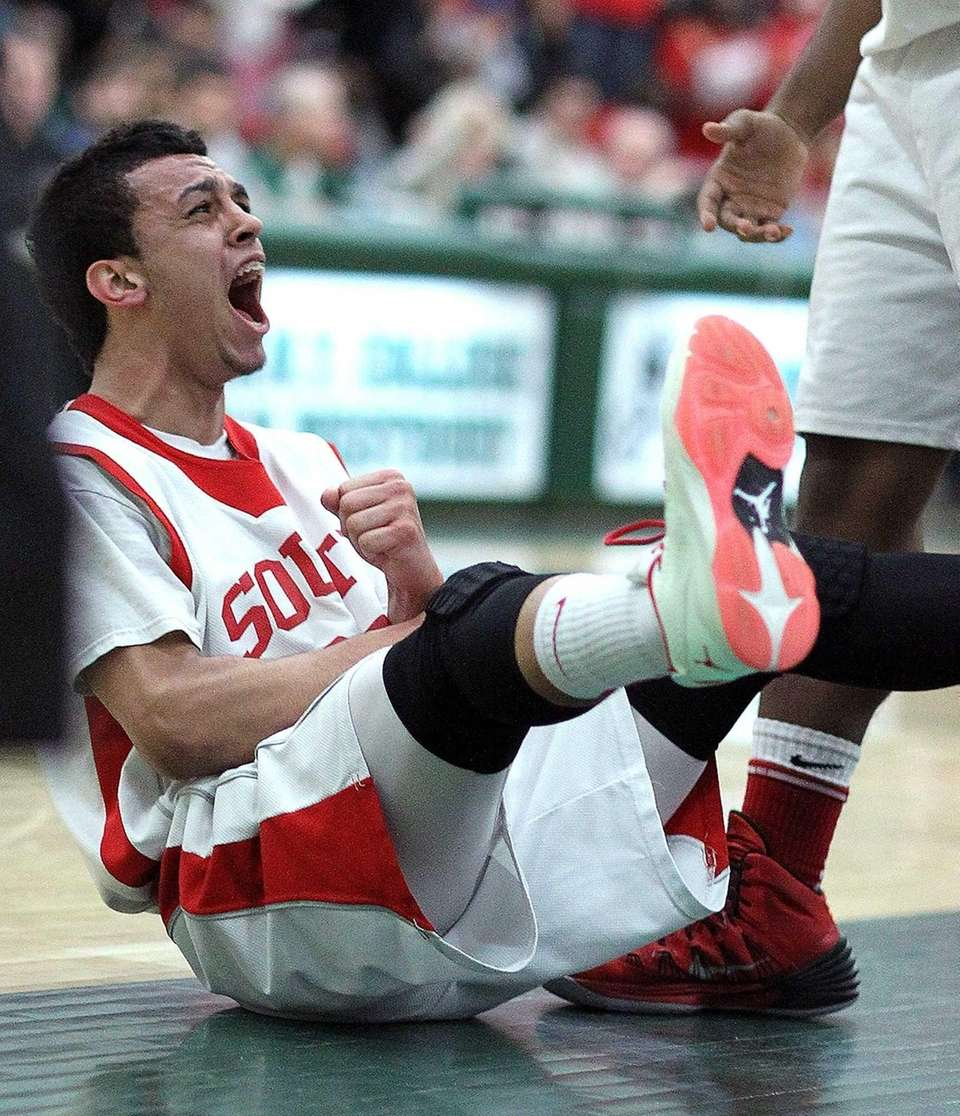 Valley Stream South's William Knight celebrates during a