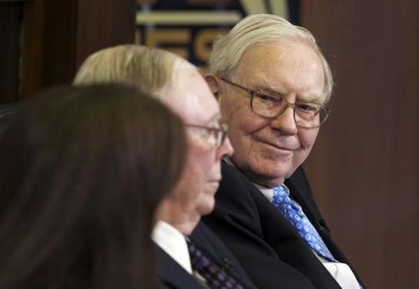 Berkshire chairman and CEO Warren Buffett is interviewed