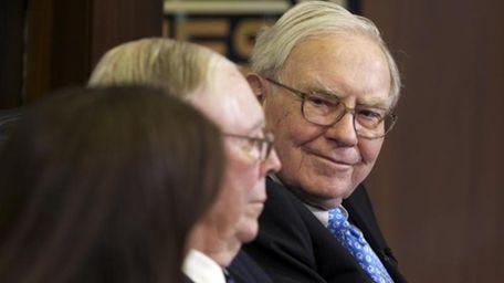 Berkshire chairman and CEO Warren Buffett is interviewed