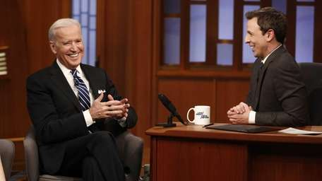 Vice President Joe Biden appears on