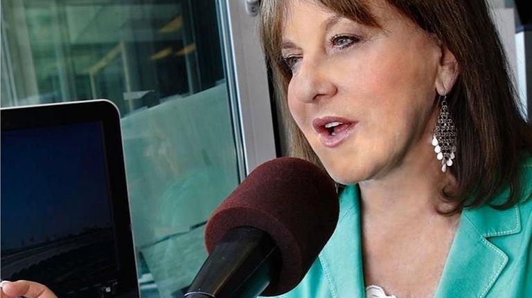 Suzyn Waldman in the radio booth at Yankee
