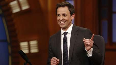 Seth Meyers hosts his first