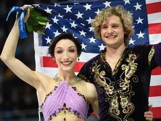 Gold medalists Charlie White and Meryl Davis are