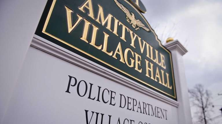 The Amityville Police Station housed in Amityville Village