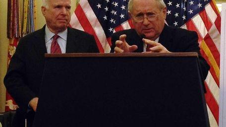 Sen. Carl Levin (D-Mich.), with Sen. John McCain