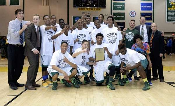 Brentwood poses with their championship plaque after their