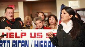 Margarita Espada, right, one of the organizers of