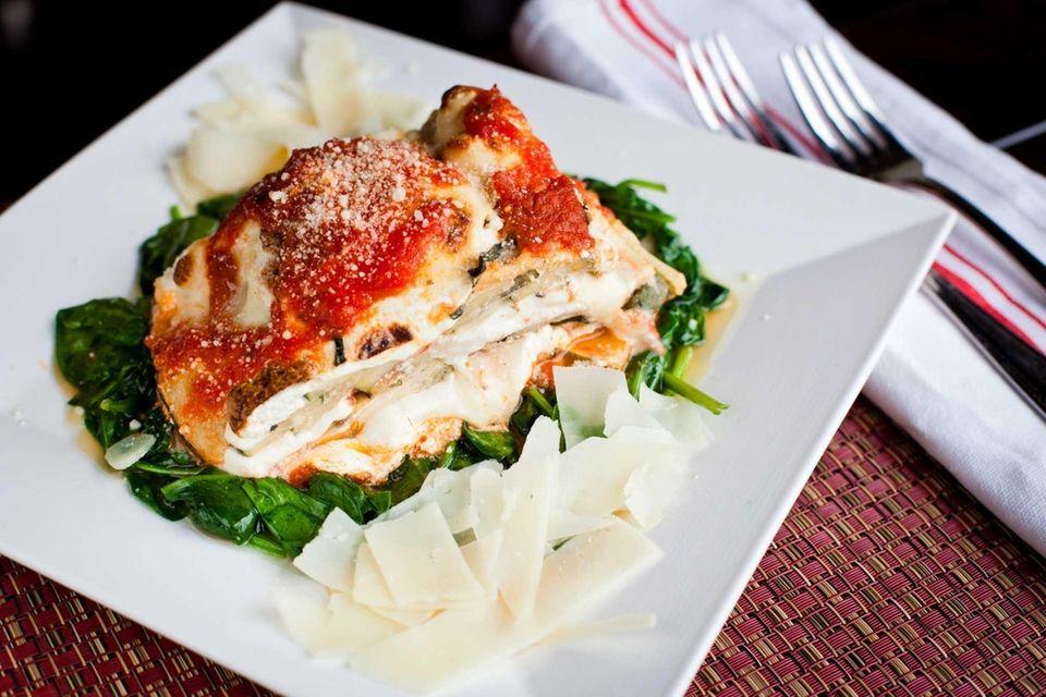 Abeetza Next Door, Greenvale: This lush zucchini lasagna