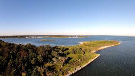 This East Moriches property on Tuthill Point is
