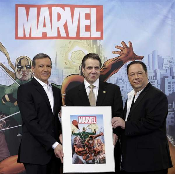 Disney CEO Bob Iger, from left, New York