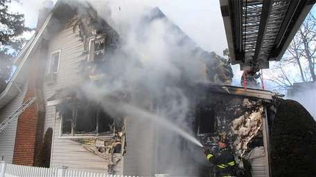 Five firefighters who were early on the scene