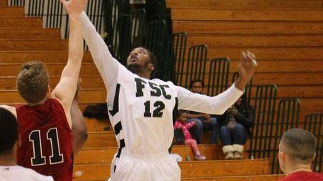 Farmingdale State men's basketball player Donald Lawes.