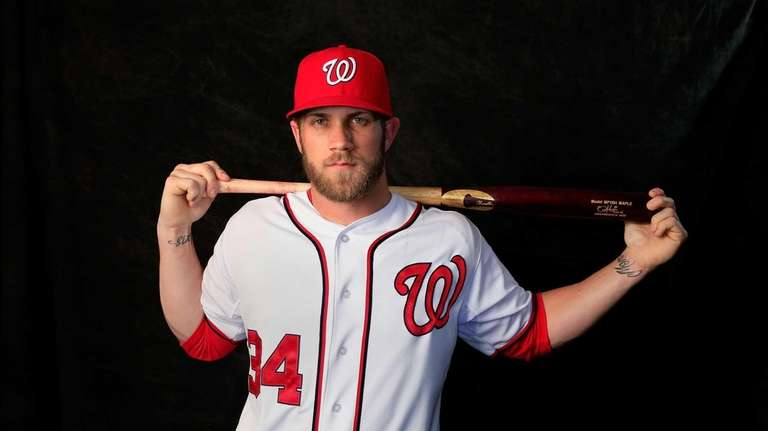 Bryce Harper of the Washington Nationals poses for