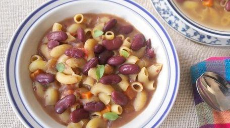 The Pasta e Fagioli recipe can be found