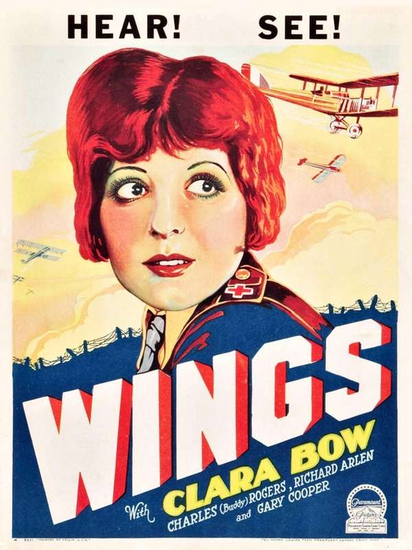 """Wings,"" a 1927 silent film about two American"