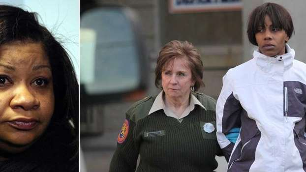 NICE bus driver Keisha McGregor, left, appears at
