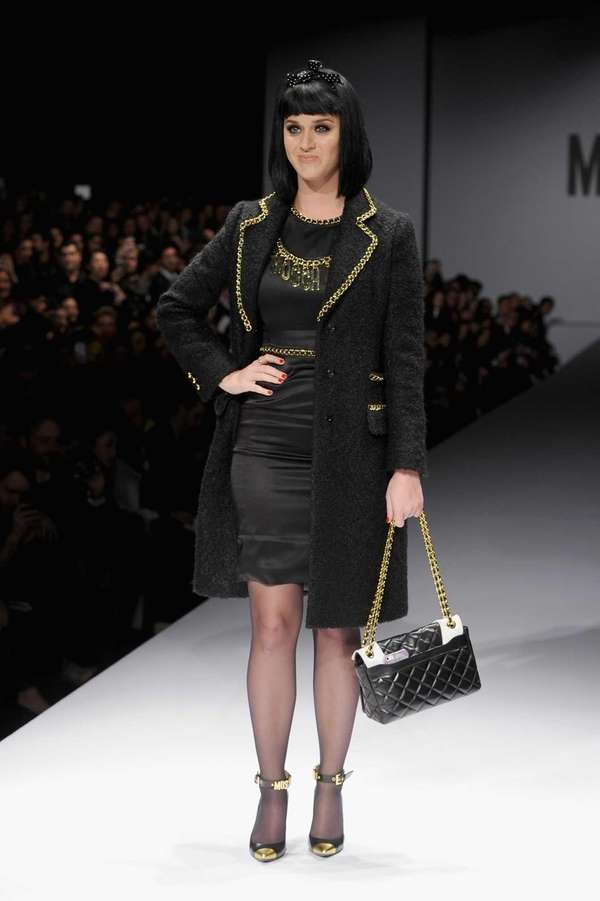 Katy Perry attends the Moschino show as a