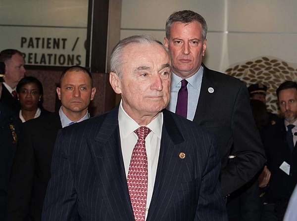 New York Police Commissioner William Bratton and Mayor