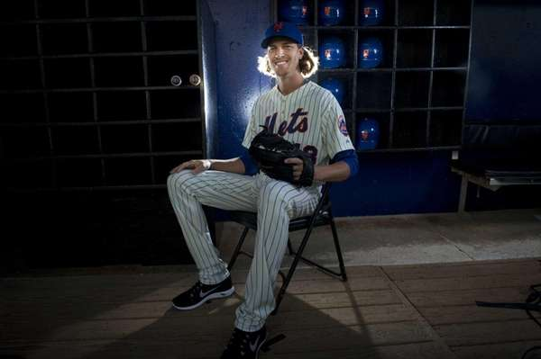 Mets pitcher Jacob deGrom is photographed during photo