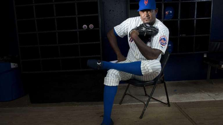 Mets pitcher Jose Valverde is photographed during photo