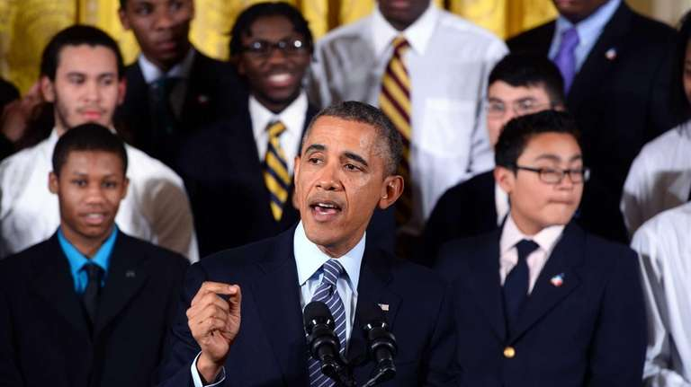 robinson barack obama lends a helping hand to young men of color