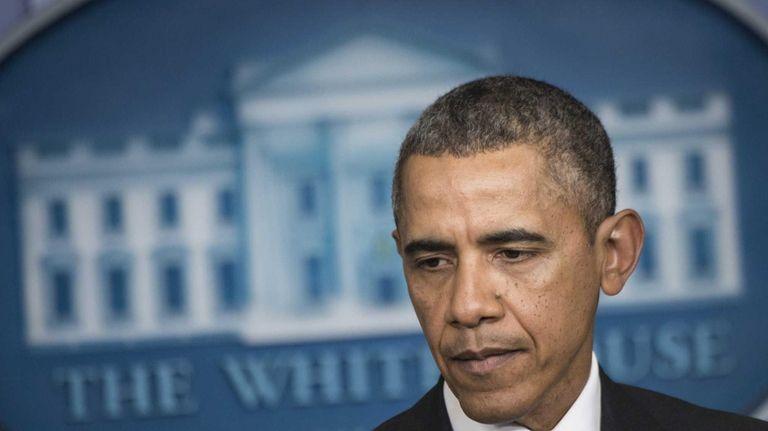 President Barack Obama prepares to speak about the