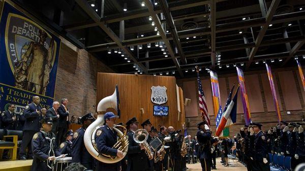 NYPD Commissioner William Bratton, New York Mayor Bill