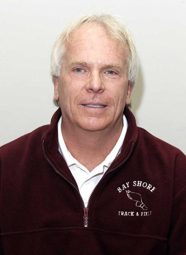 Bay Shore girls track coach Steve Borbet.