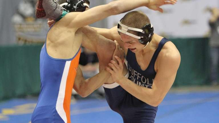 Brad Wade of Islip attempts to remove himself