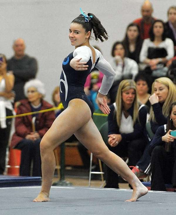 Cydney Crasa performs her floor routine during the