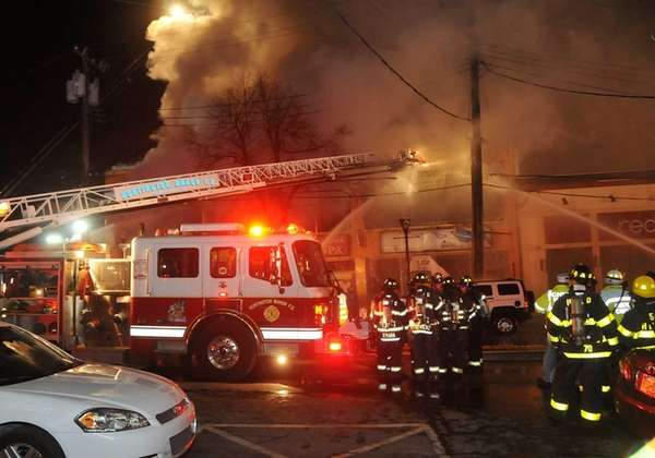 Huntington and Cold Spring Harbor Fire Departments responded