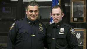 Police Officers Michael Konatsotis and David Roussine inside