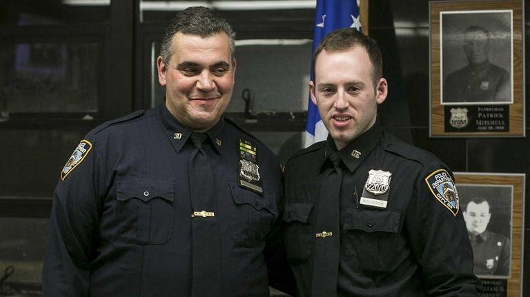 Police Officers Michael Konatsotis and David Roussine inside